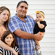 SEBRING, FLORIDA, DECEMBER 17, 2015<br /> Mustapha Thiri and his wife Tiffany Soule Thiri, both 36, with their daughters Leilani Soule Aires Thiri, 8, and Rokaia Nour Thiri, 15 months old, in Sebring, Fl.<br /> (Photo by Angel Valentin/Freelance)