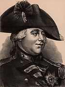 George III (1738-1820) King of Great Britain and Ireland from 1760 .  Member of the Hanoverian dynasty. Wood engraving c1900.