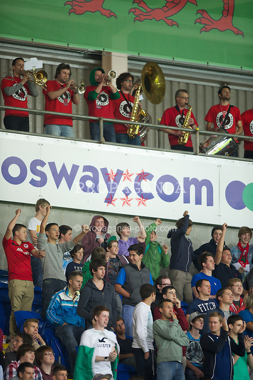 CARDIFF, WALES - Friday, September 7, 2012: Wales supporters' band the Barry Horns during the 2014 FIFA World Cup Brazil Qualifying Group A match against Wales at the Cardiff City Stadium. (Pic by David Rawcliffe/Propaganda)