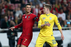 March 22, 2019 - Lisbon, Portugal - Portugal's forward Cristiano Ronaldo gestures during the UEFA EURO 2020 group B qualifying football match Portugal vs Ukraine, at the Luz Stadium in Lisbon, Portugal, on March 22, 2019. (Credit Image: © Pedro Fiuza/NurPhoto via ZUMA Press)