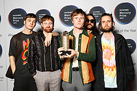 Fontaines D.C.attend the media room during 2019 Hyundai Mercury Prize, Eventim Apollo, London, UK, Saturday 06 July 2019<br /> Photo JM Enternational