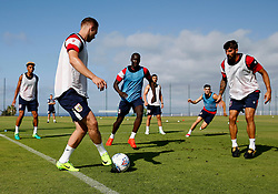 Lloyd Kelly, Gustav Engvall, Famara Diedhiou and Eros Pisano of Bristol City train - Mandatory by-line: Matt McNulty/JMP - 20/07/2017 - FOOTBALL - Tenerife Top Training Centre - Costa Adeje, Tenerife - Pre-Season Training