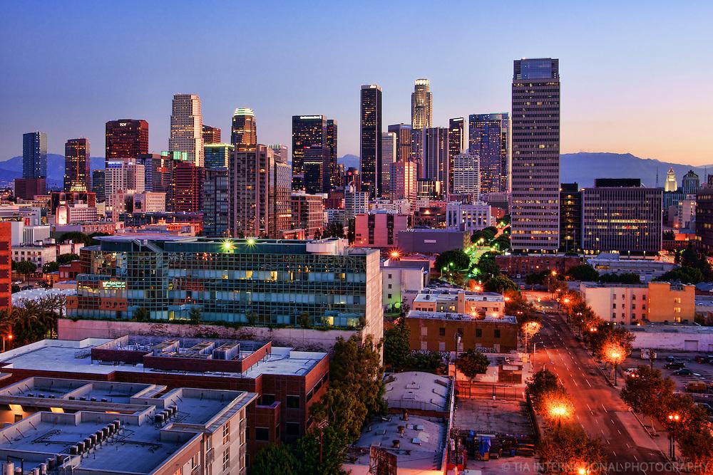 Los Angeles Skyline at Sunrise