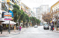 10.01.2012, Marbella, Spanien, ESP, Marbella im Focus, im Bild Strasse mit Palmen in Marbella, Andalusien, Spanien. EXPA Pictures © 2012, PhotoCredit: EXPA/ Eibner/ Andre Latendorf..***** ATTENTION - OUT OF GER *****