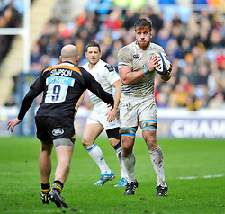 Dominic Ryan of Leinster in possession - Photo mandatory by-line: Patrick Khachfe/JMP - Mobile: 07966 386802 24/01/2015 - SPORT - RUGBY UNION - Coventry - Ricoh Arena - Wasps v Leinster - European Rugby Champions Cup