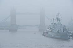 SEP 24 2013 London wakes up in thick fog