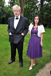BORIS JOHNSON and his wife MARINA at the Raisa Gorbachev Foundation fourth annual fundraising gala dinner held at Stud House, Hampton Court, Surrey on 6th June 2009.