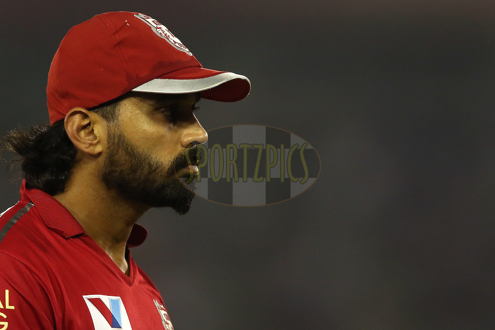 Murali Vijay of Kings XI Punjab during match 13 of the Vivo Indian Premier League (IPL) 2016 between the Kings XI Punjab and the Kolkata Knight Riders held at the IS Bindra Stadium, Mohali, India on the 19th April 2016<br /> <br /> Photo by Shaun Roy / IPL/ SPORTZPICS