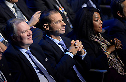 LAUSANNE, SWITZERLAND - Wednesday, January 24, 2018: UEFA President Aleksander Čeferin during the draw for the new UEFA Nations League tournament at the SwissTech Convention Centre. (Pic by Pool/UEFA/Propaganda)