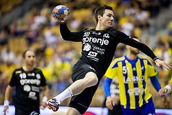 Rok Ovnicek of Gorenje during handball match between RK Celje Pivovarna Lasko and RK Gorenje Velenje in Last Round of 1. Liga NLB 2016/17, on June 2, 2017 in Arena Zlatorog, Celje, Slovenia. Photo by Vid Ponikvar / Sportida
