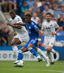 Demarai Gray of Leicester City (C) in action - Mandatory by-line: Jack Phillips/JMP - 18/08/2018 - FOOTBALL - King Power Stadium - Leicester, England - Leicester City v Wolverhampton Wanderers - English Premier League