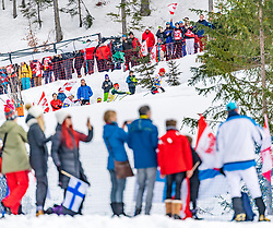 02.03.2019, Seefeld, AUT, FIS Weltmeisterschaften Ski Nordisch, Seefeld 2019, Nordische Kombination, Langlauf, Team Bewerb 4x5 km, im Bild v.l. Jan Schmid (NOR), Johannes Rydzek (GER), Franz-Josef Rehrl (AUT) // f.l. Jan Schmid of Norway Johannes Rydzek of Germany and Franz-Josef Rehrl of Austria during the Cross Country Team competition 4x5 km of Nordic Combined for the FIS Nordic Ski World Championships 2019. Seefeld, Austria on 2019/03/02. EXPA Pictures © 2019, PhotoCredit: EXPA/ Stefan Adelsberger