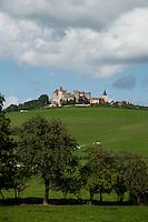 The Medieval castle of Chateauneuf-en-Auxois near Dijon, France.