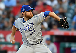 June 6, 2018 - Anaheim, CA, U.S. - ANAHEIM, CA - JUNE 06: Kansas City Royals pitcher Ian Kennedy (31) in action during the first inning of a game against the Los Angeles Angels of Anaheim played on June 6, 2018 at Angel Stadium of Anaheim in Anaheim, CA. (Photo by John Cordes/Icon Sportswire) (Credit Image: © John Cordes/Icon SMI via ZUMA Press)