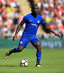"Chelsea's Victor Moses during the Community Shield at Wembley, London. PRESS ASSOCIATION Photo. Picture date: Sunday August 6, 2017. See PA story SOCCER Community Shield. Photo credit should read: Nigel French/PA Wire. RESTRICTIONS: EDITORIAL USE ONLY No use with unauthorised audio, video, data, fixture lists, club/league logos or ""live"" services. Online in-match use limited to 75 images, no video emulation. No use in betting, games or single club/league/player publications."