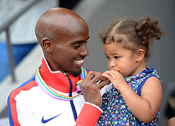 File photo dated 17-08-2014 of Great Britain's Mo Farah after winning the Men's 5000m Final during day six of the 2014 European Athletics Championships at the Letzigrund Stadium, Zurich.