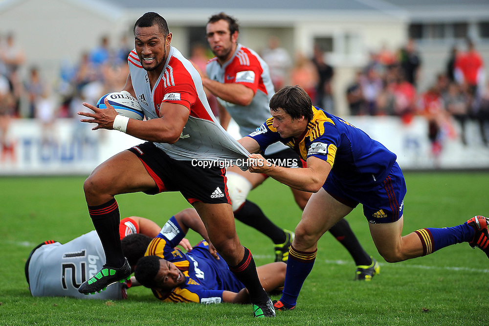 Crusaders Robbie Fruean in action during their Super Rugby Pre-season game Crusaders v Highlanders. Rugby Park, Greymouth, New Zealand. Friday 3 February 2012. Photo: Chris Symes/www.photosport.co.nz