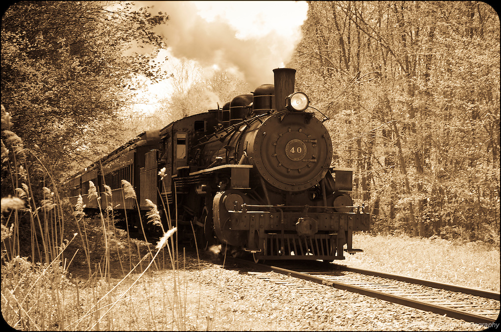 Essex Steam Train - Sepia