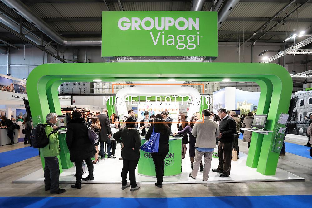 lo stand Groupon Viaggi alla Bit 2014, 34esima Borsa internazionale del turismo