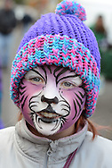 Jessica Lawfer, 10 of Quakertown shows off her purple tiger face paint during the Autumn Alive Festival Saturday October 17, 2015 at Ferry Street Park in Quakertown, Pennsylvania.  (Photo by William Thomas Cain)
