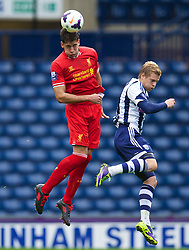 WEST BROMWICH, ENGLAND - Sunday, October 20, 2013: Liverpool's Rafael Paez Cardona in action against West Bromwich Albion during the Under 21 FA Premier League match at the Hawthorns. (Pic by David Rawcliffe/Propaganda)