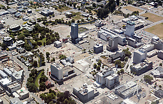 Christchurch-Aerial views show rebuild following earthquake