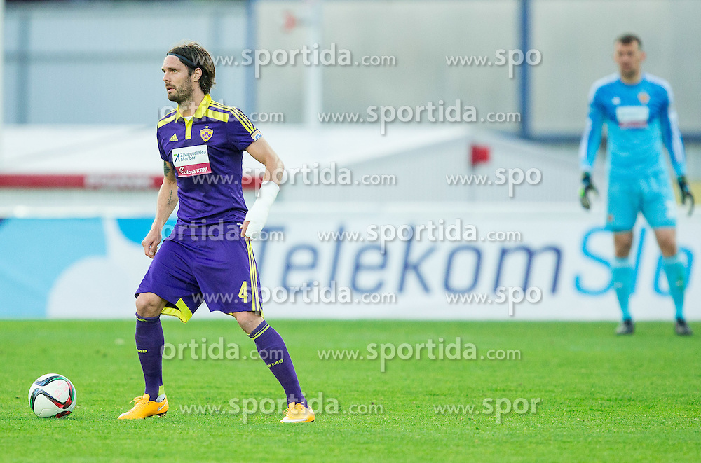 Marko Suler #4 of Maribor during football match between NK Radomlje and NK Maribor in 29th Round of Prva liga Telekom Slovenije 2014/15, on April 24, 2015 in Sportni park Domzale, Slovenia. Photo by Vid Ponikvar / Sportida