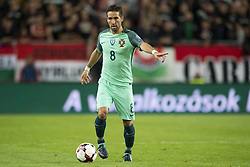 September 3, 2017 - Budapest, Hungary - Joao Moutinho of Portugal controls the ball during the FIFA World Cup 2018 Qualifying Round match between Hungary and Portugal at Groupama Arena in Budapest, Hungary on September 3, 2017  (Credit Image: © Andrew Surma/NurPhoto via ZUMA Press)