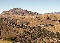 View of Indian Lodge from Davis Mountains, Ft., Davis, Texas