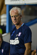 Ipswich Town manager, Mick McCarthy during the EFL Sky Bet Championship match between Reading and Ipswich Town at the Madejski Stadium, Reading, England on 9 September 2016. Photo by Adam Rivers.