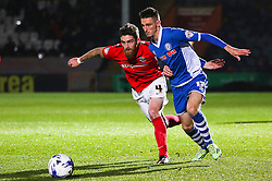 Romain Vincelot of Coventry City and Scott Tanser of Rochdale - Mandatory byline: Matt McNulty/JMP - 07966 386802 - 20/10/2015 - FOOTBALL - Gigg Lane - Rochdale, England - Rochdale v Coventry - Sky Bet League One