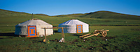 Mongolie, Province de Tov. Campement nomade // Mongolia, Tov province, Nomad camp