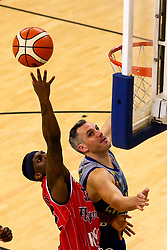 Jalan McCloud of Bristol Flyers reaches for the basket - Photo mandatory by-line: Robbie Stephenson/JMP - 29/03/2019 - BASKETBALL - English Institute of Sport - Sheffield, England - Sheffield Sharks v Bristol Flyers - British Basketball League Championship