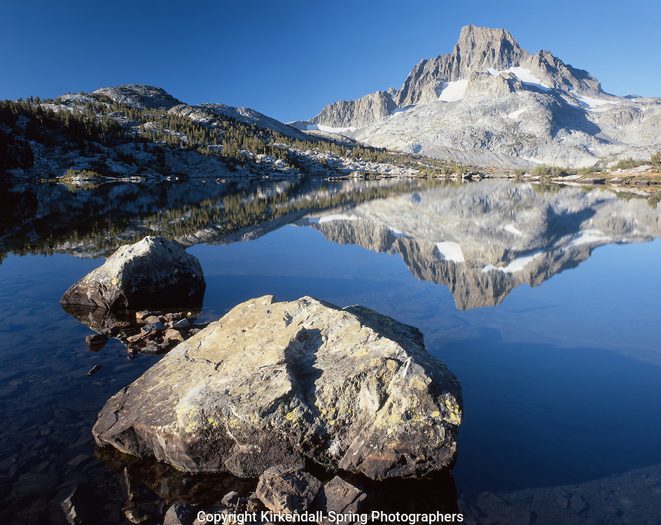AA03143-01...CALIFORNIA - Thousand Island Lake and Banner Peak in the Ansel Adams Wilderness.