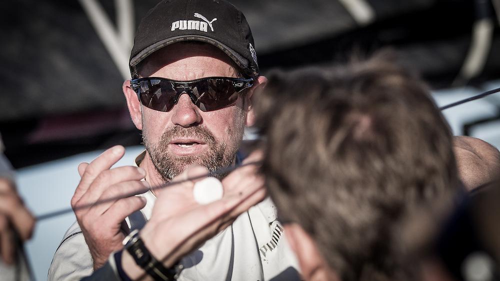 BRAZIL, Itajai. 6th April 2012. Volvo Ocean Race. Brad Jackson, Watch Captain, Puma Ocean Racing Powered by BERG.