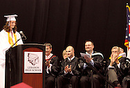 Salutatorian Hannah Turpin speaks during the 142nd annual Lebanon High School commencement at the Nutter Center in Fairborn, Saturday, May 26, 2012.