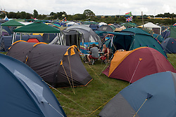 Lots of tents at the camp site of the WOMAD (World of Music; Arts and Dance) Festival in reading; 2005,
