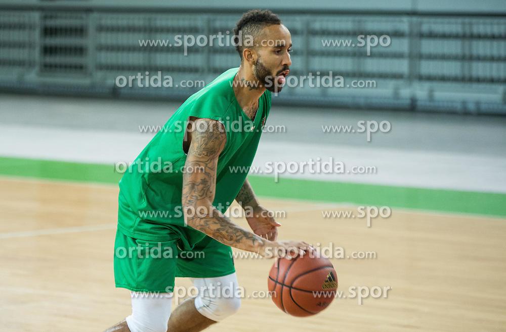 Zack Wright during practice session of KK Union Olimpija before new basketball season 2015/16, on September 29, 2015 in Arena Stozice, Ljubljana, Slovenia. Photo by Vid Ponikvar / Sportida