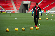 Doncaster Rovers Goalkeeper Marko Marosi (13) warming up the EFL Sky Bet League 1 match between Doncaster Rovers and Bristol Rovers at the Keepmoat Stadium, Doncaster, England on 27 January 2018. Photo by Craig Zadoroznyj.