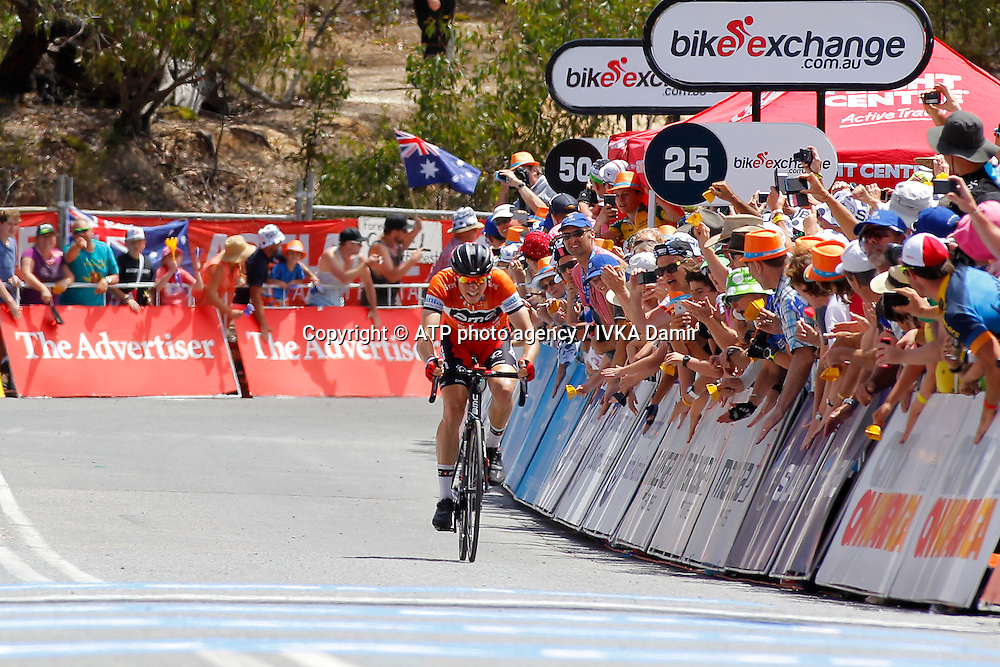 2015 Santos Tour Down Under. Adelaide. Australia. 24.1.2015. Stage  5. Mc Laren Vale to Willunga Hill.151.5km -<br /> Tour Leader Rohan DENNIS (AUS) BMC Team, <br /> - Tour Down Under Australia 2015, Cycling, road race, Radrennen, Australien -  Radsport - Rad Rennen <br /> - fee liable image: copyright &copy; ATP - IVKA Damir