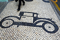 Chine, Macao, trottoir de la ville // China, Macau, sidewalk of the city