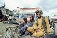 Pakistan, Balouchistan, Quetta, station de bus // Bus stand, Quetta, Balouchistan province, Pakistan