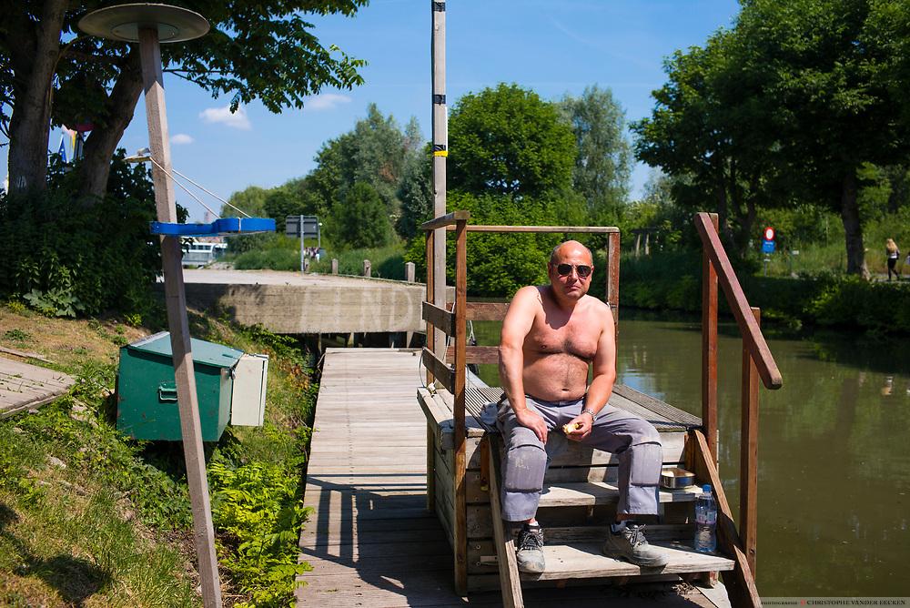 Oudenaarde, Belgium, 1 jun 2017, Schelde eiland is a new housing project in the city along the river Scheldt