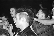 Punks at Gig, The Business. UK. 1980s.