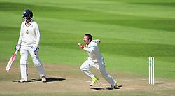 Roelof van der Merwe of Somerset celebrates the final wicket of Chris Rushworth.   - Mandatory by-line: Alex Davidson/JMP - 06/08/2016 - CRICKET - The Cooper Associates County Ground - Taunton, United Kingdom - Somerset v Durham - County Championship - Day 3