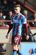 Conor Townsend of Scunthorpe United during the Sky Bet League 1 match between Scunthorpe United and Swindon Town at Glanford Park, Scunthorpe, England on 28 March 2016. Photo by Ian Lyall.
