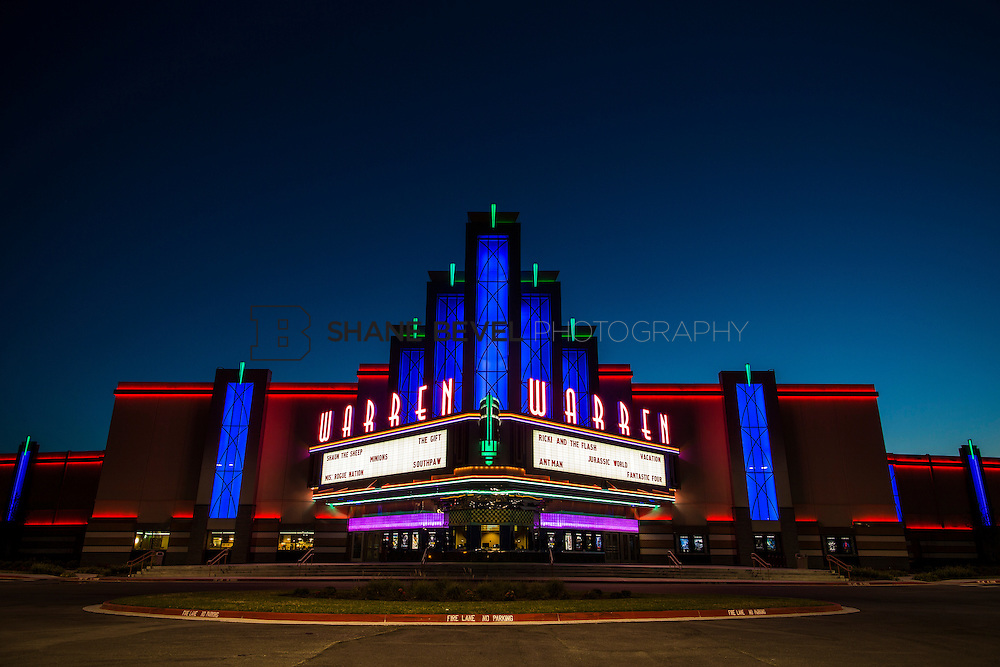 8/10/15 8:45:01 PM --  Exterior photos of the Warren Theatre in Broken Arrow, Oklahoma. <br /> <br /> Photo by Shane Bevel