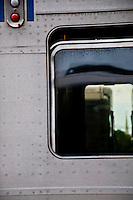 New York, New York City, LIRR carriage, exterior with window.
