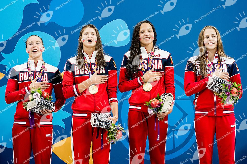 Russian Federation RUS<br /> 4X100 Relay Freestyle Men Final Swimming<br /> 1st European Olympic Games <br /> Baku Azerbaijan 12-28/08/2015<br /> Photo Andrea Masini/Deepbluemedia/Insidefoto