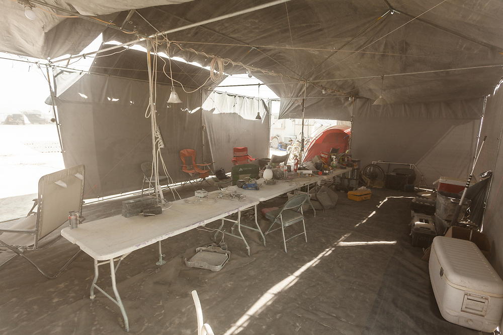 Previously known as L4K, these are the folks who create the ring of lights around the man. It also serves as perimeter for man burn. They are seeking funding for a new set of lights to mark the ring around the man. By the way this is how you can tell they are a hardworking camp. Nobody is here they're all out working. My Burning Man 2018 Photos:<br />